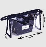 De Zakken van de Make-up van de fabriek Geplaatst de Handtas van Dames Vastgestelde Manier Iriserende Kleur Kosmetisch pvc van de Zak