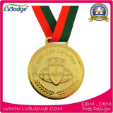 Медаль спорта бронзы серебра золота нестандартной конструкции 3D