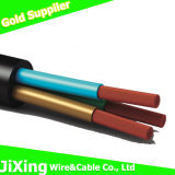 Rvv 5 noyau conducteur en cuivre Sqmm Gaine en PVC de retenue de câble flexible pour les Américains et le Canada