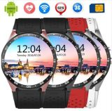 Kw88 Smart Phone à quatre cœurs Smart Watch Android de couleur noire