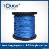 파란 색깔 7mmx28muhwmpe 밧줄 윈치 합성 물질 밧줄