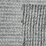 300gsm de poliéster Lurex teñido de hilados de algodón tejido interlock