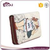 Бумажник для маленьких девочек, бумажник застежки -молнии PU кожаный печати с высоким качеством