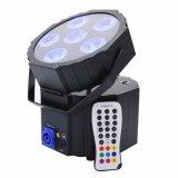 Flightcase DJ die Ereignisse, die NENNWERT intelligenten batteriebetriebenen Radioapparat DMX NENNWERT können RGBWA+UV 6in1 6X12W LED NENNWERT Licht Wedding sind