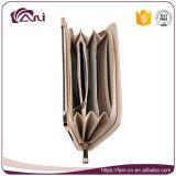Большие бумажники RFID для женщин, бумажника PU застежка-молнии кожаный с конструкцией способа