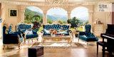 Sofà europeo di stile con l'annata del sofà del cuoio genuino classica