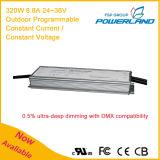 320W 8.8A 24 ~ 36V Outdoor programável corrente constante de tensão / Constante LED Driver Power Supply