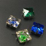 Het nieuwe Vierkante Glas naait op de Naaiende Garnituur van het Kristal van Toebehoren (tP-Vierkant 12mm)