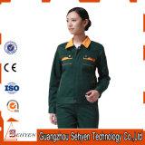L'uniforme 100% automatique d'ouvrier de polyester avec conçoivent en fonction du client