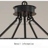 Lampe pendante de lustre d'art en cristal de fer pour la salle de séjour