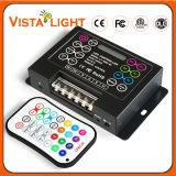 DC5-DC24V controlo remoto por infravermelhos Música Controlador de LED RGB