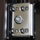 新しいデザイン熱い販売の木の穀物カラー鋼鉄機密保護の出入口