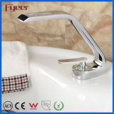 Le Bibcock de salle de bains de chrome de Fyeer filète le robinet de bonne qualité de bassin avec le long bec