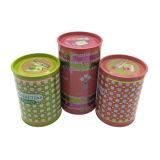 Round Shape Tin Can Perfume Tin Container Tin Box Atacado