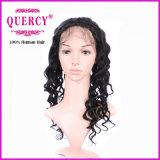 Soltar el frontal de calidad superior frontal de 360 cordones del cordón peruano del pelo humano de la Virgen de la onda