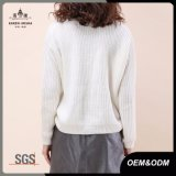 Ladies Knitted Laces up Sweater Pullover