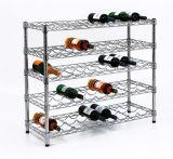 8 capas ajustable estante del vino del metal de botella de almacenamiento