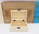 Personalizzare il contenitore di legno di pino con gli scompartimenti