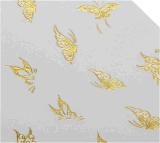 autoadesivo del chiodo degli autoadesivi di arte del chiodo di trasferimento dell'acqua di disegno della farfalla dell'oro 3D