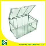 Home Garden Small Galvanized Steel Frame Glass Inverness