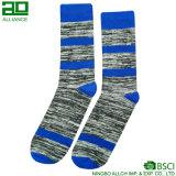 Heiße Form-blaue Baumwollmann-Socken