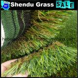 装飾および緑のための景色の草25mmの合成物質の草
