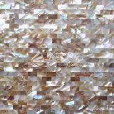 Mattonelle di mosaico d'acqua dolce di colore 10*20mm del Brown della natura delle coperture