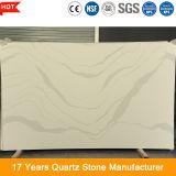 Pedra projetada artificial grande personalizada de quartzo do formulário 20mm da laje para a bancada da cozinha