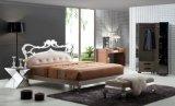 Кровать Афины нержавеющей стали мебели спальни, кровать короля Размера двойная, роскошная кровать Rb-03