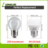 (25W halogênio Replacemnet) bulbo morno energy-saving do diodo emissor de luz do branco 3W com Ce RoHS