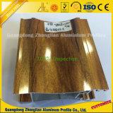 OEM مخصصة مسحوق ملون المطلي خشبي الحبوب لسحب الألمنيوم الشخصي