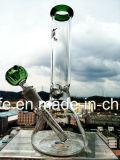 Comercio al por mayor de la base de 10 pulgadas vaso Percolator tazón de vidrio colorido fumar pipa de agua