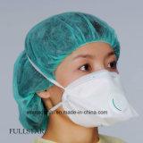 Masque FFP1 avec valve de style plié de couleur blanche