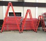 El color rojo del paso de progresión de la escala 5 de la construcción aisló una escala de la fibra de vidrio de la dimensión de una variable