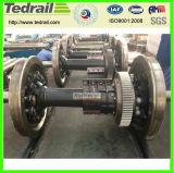 Поезд поддельных Wheelset; 22,5 taxle нагрузки; подделанных комплекта колес моста для железнодорожных грузовых автомобилей / вагон