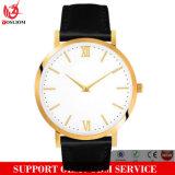 Yxl-641 de alta qualidade Custom Logo Metal Steel Mesh Watch, relógio de homens simples, Leather Watch Band