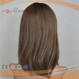 Brazilian Hair Silk Top Middle Handtied Trabalho Mulheres Peruca Médica