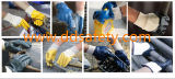 Ddsafety 2017 guanti di funzionamento ricoperti nitrile blu lavorati a maglia della manopola