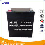 Bateria selada livre 12V 5ah da manutenção VRLA para o sistema médico