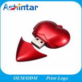 De plastic Stok van de Voetbal USB van het Geheugen van de Flits van de Vorm USB van het Hart