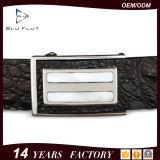 Мода роскошь рельефным логотипом подлинной черного цвета из натуральной кожи аллигатора преднатяжитель плечевой лямки ремней безопасности