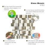 Azulejo de mosaico rústico del vidrio manchado del diseño de la casa