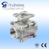 Acier inoxydable 3PC BSPT / NPT Thread Ball Valve