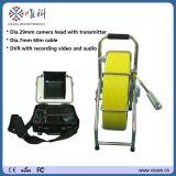 Precio de fábrica monitor de 8 pulgadas, pista de cámara Self-Levelling, 15 alta luz LED, cámara del examen de la tubería de la alcantarilla