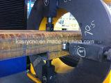 Contenitori a pressione di CNC Oxy dei 8 macchina di smussatura del tubo di asse del plasma di taglio di perforazione quadrata rotonda del foro