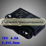 16V 4.5A 72Вт 5,5*2.5 для R50 T30, T40 X31 X40 адаптер переменного тока компьютера для IBM