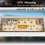 Construcciones de viviendas prefabricadas modulares verdes bien acabadas de las casas