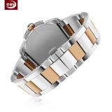 Verre saphir étanche Couple en acier inoxydable montre à quartz