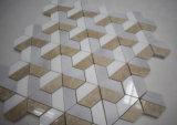 Mattonelle di mosaico Mixed di colore 3D del migliore marmo grigio bianco beige di prezzi