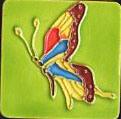 Покрашенный рукой керамический магнит холодильника (MN09)